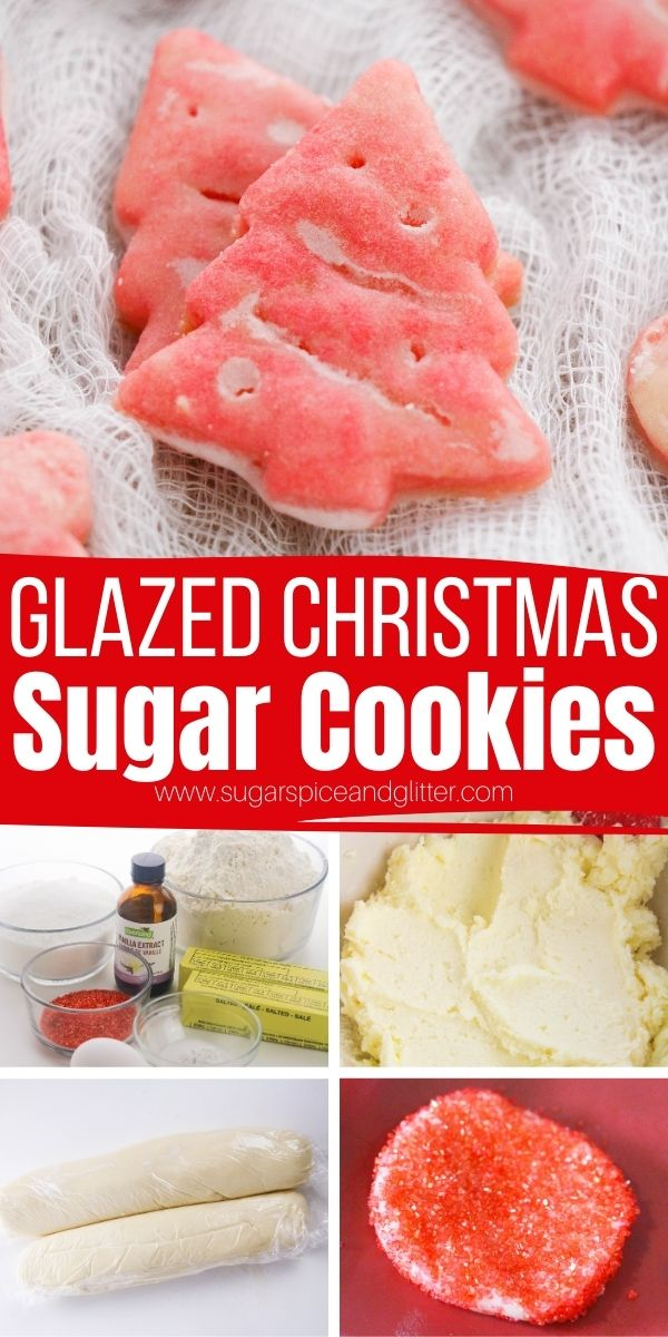 How to make these super cute Glazed Sugar Cookies - melt-in-your-mouth sugar cookies with a perfect vanilla glaze. These cookies look like they were bought at a gourmet bakery but are super simple to make at home!