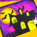 Haunted House Pastel Drawing with Template