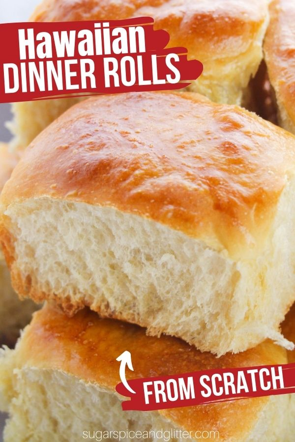 Soft and fluffy Hawaiian Dinner Rolls with that perfect sweet and buttery flavor we all know and love in this classic bread roll. Perfect for an easy side dish or using for slider buns or breakfast sandwiches.