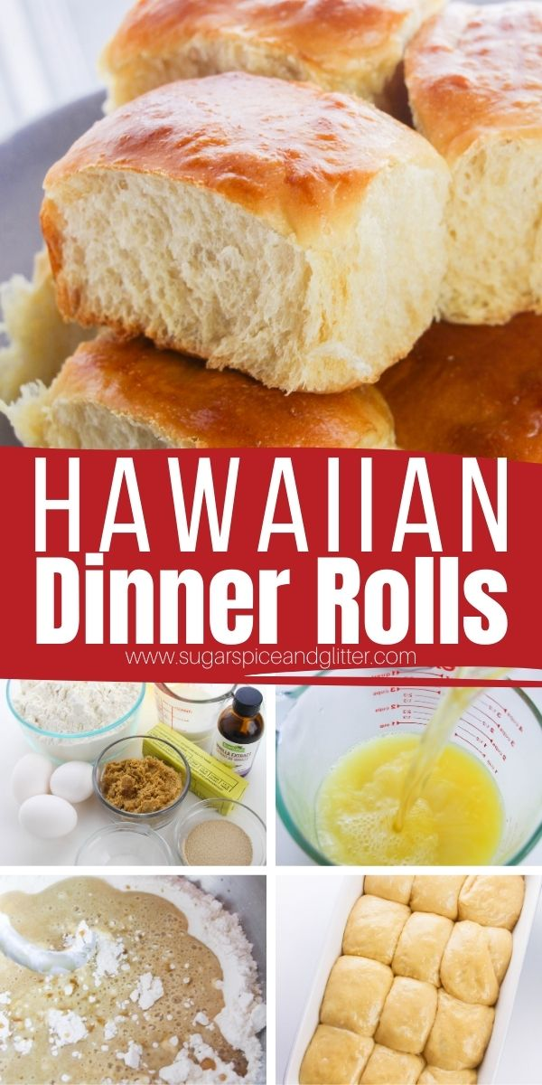 How to make Hawaiian Dinner Rolls at home, a supers simple step-by-step recipe for the perfect soft and fluffy dinner rolls with that classic sweet, buttery flavor we all know and love