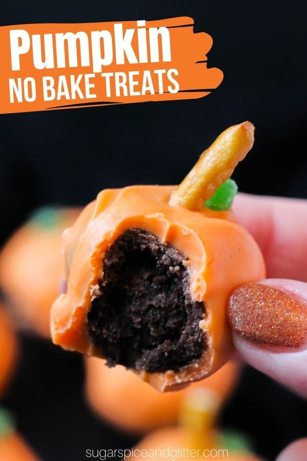 No Bake Pumpkin Cake Pops