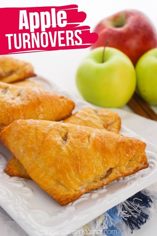 From-scratch apple turnovers are the perfect all-occasional fall dessert: perfect for fall brunches, an afternoon treat or a light fall dessert.