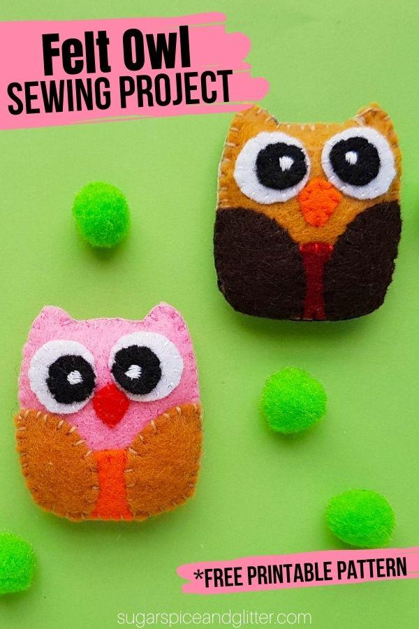 Felt Owl Sewing Pattern