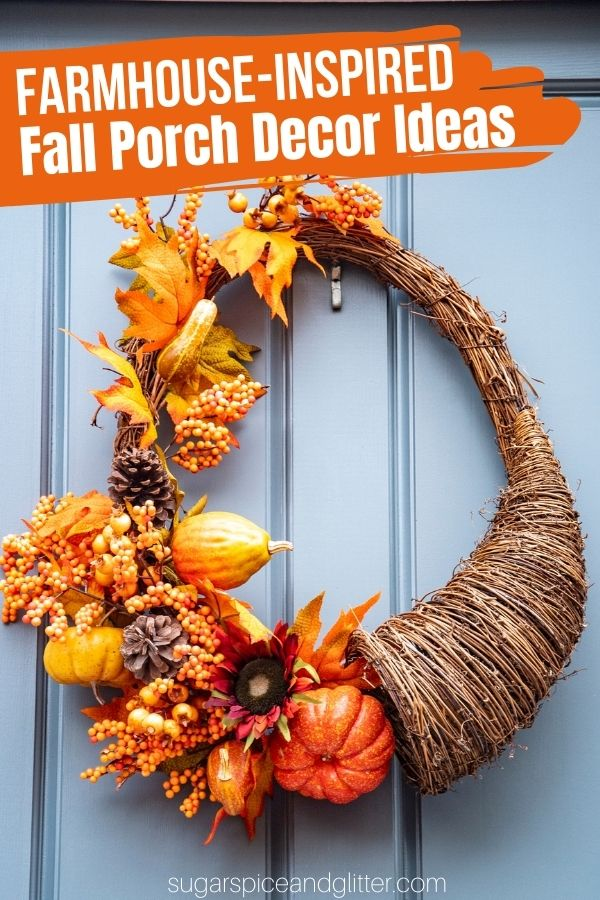 20 Farmhouse-Inspired Fall Porch and Entryway Decor Ideas to transform your porch into a fabulous fall fantasy