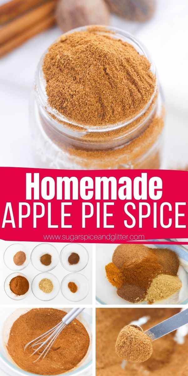 Skip the expensive jarred stuff and make your own homemade apple pie spice for less than $1! The perfect addition to all of your fall baking recipes - giving your baked goods more flavor than just plain old cinnamon