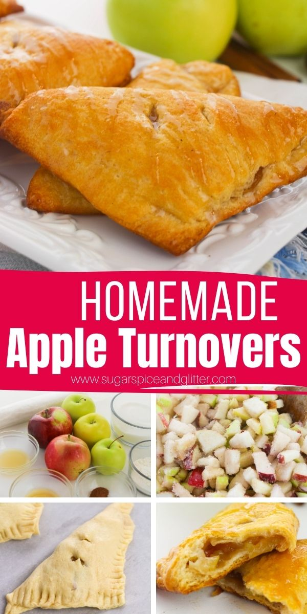 How to make the best homemade apple turnovers with from-scratch apple pie filling and puff pastry. Satisfying your cinnamon apple dessert cravings with this easy and indulgent dessert