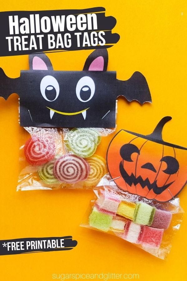 A fun way to personalize your Halloween classroom treats: Halloween Treat Bag Tags! And bonus, you can write their names on the back to ensure that everyone gets one