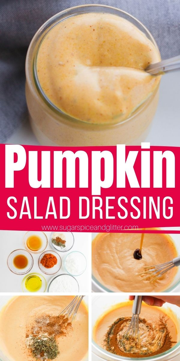 How to make the best pumpkin salad dressing to transform your favorite salad recipes into an indulgent fall salad. This pumpkin salad recipe can be made sweeter or spicier according to your personal preferences