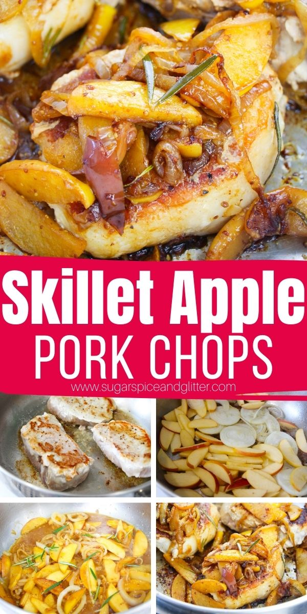 How to make the best pork chops with apples and onions - a delicious skillet pork chop recipe that comes together in less than 30 minutes. This dish is the perfect combination of sweet and savory