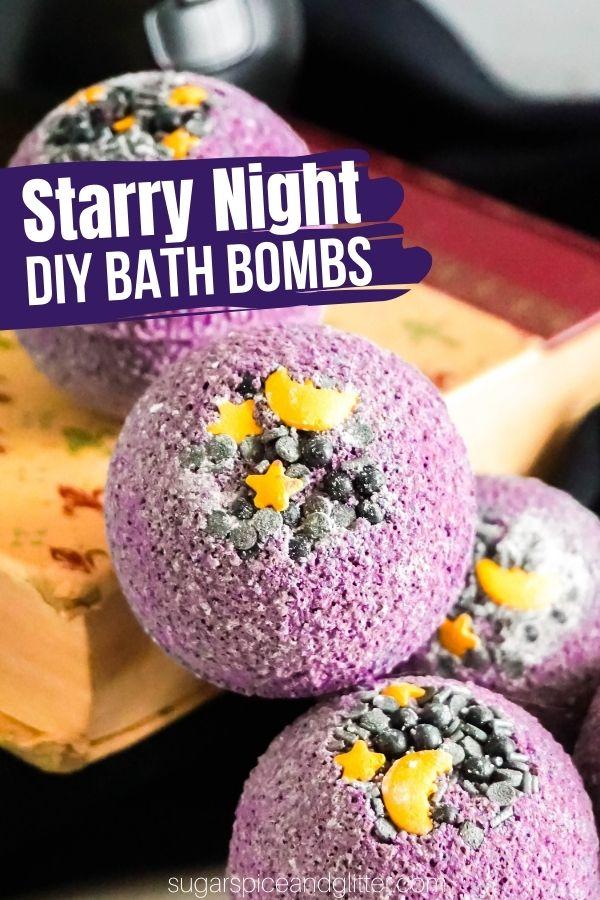 DIY Starry Night Bath Bomb