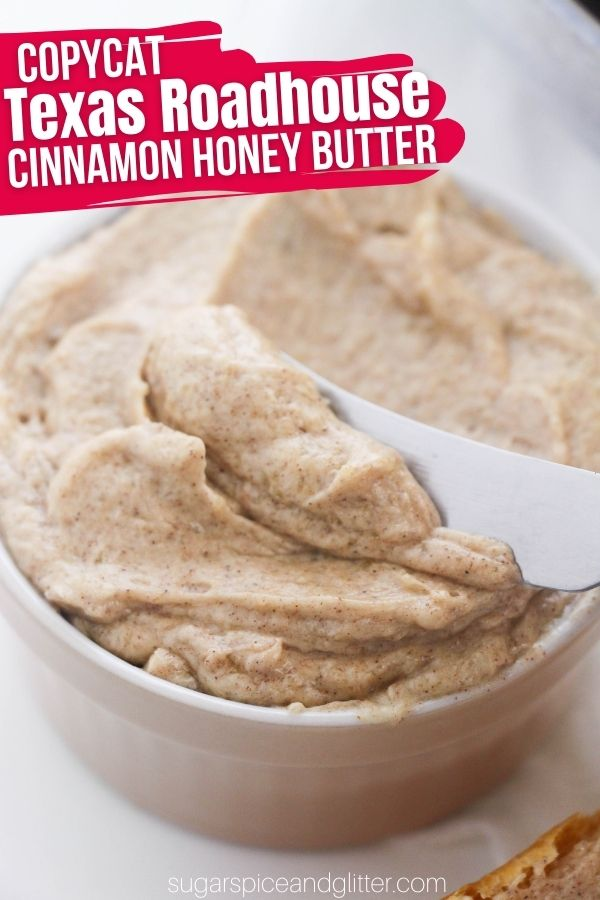 This luscious and sweet cinnamon sugar butter is such a treat, whether you're serving it as a side with dinner, or adding to a brunch spread. It can even be served on top of roasted veggies. Just 4 ingredients and less than 5 minutes to whip up
