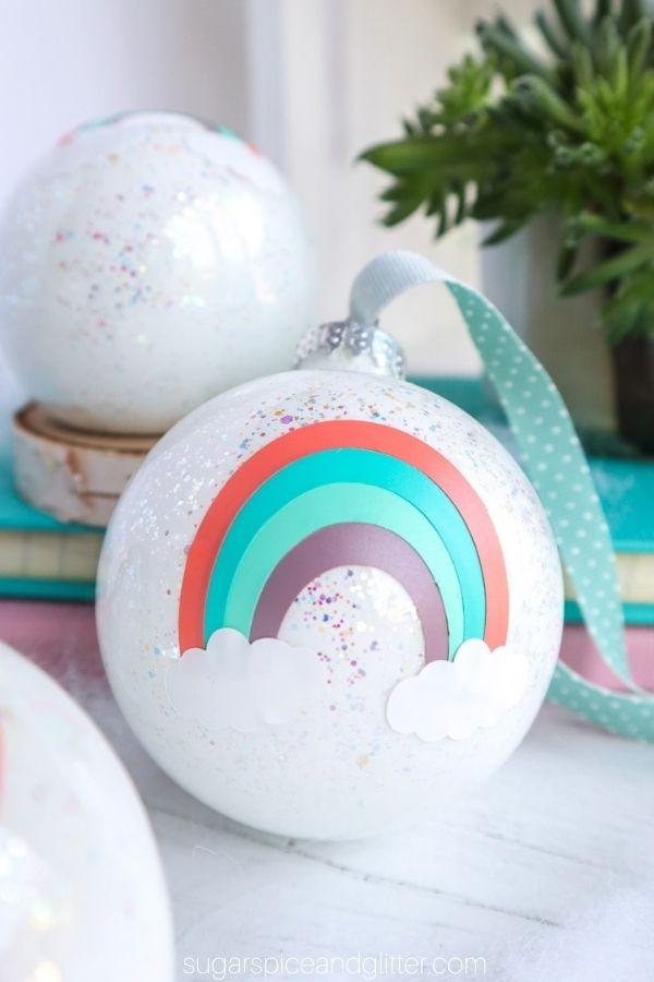 Cricut Rainbow Ornament with Free Rainbow SVG