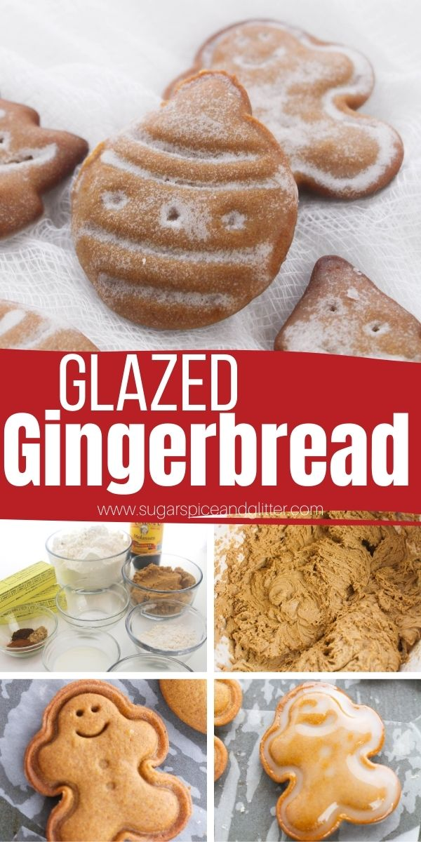How to make pretty glazed gingerbread cookies, just like you can find in a fancy bakery. These easy gingerbread cookies have a snappy bite but a soft chew and the perfect balance of warming gingerbread flavors. You need to add these Christmas cookies to your Christmas baking list