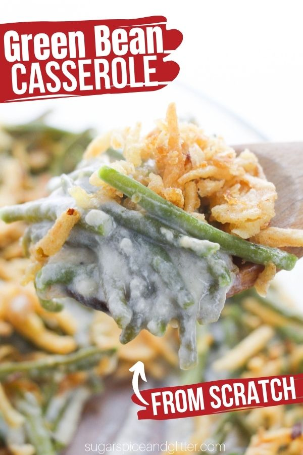 A classic Thanksgiving side dish, this Green Bean Casserole is made without canned mushroom soup for a healthier take on this comfort food classic. Creamy, crunchy - delicious!