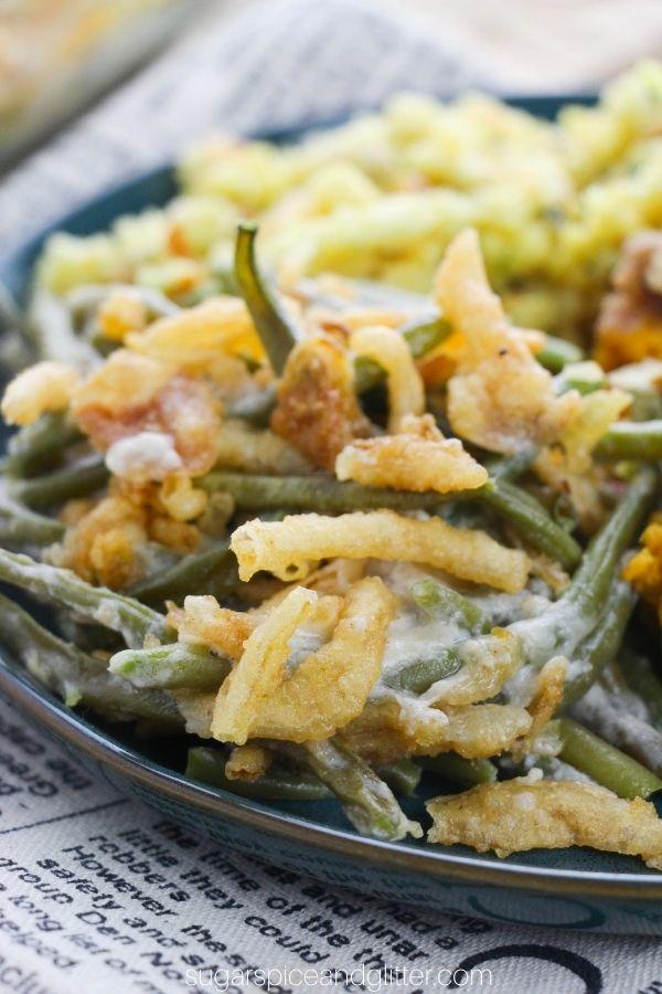 Healthy Green Bean Casserole from Scratch