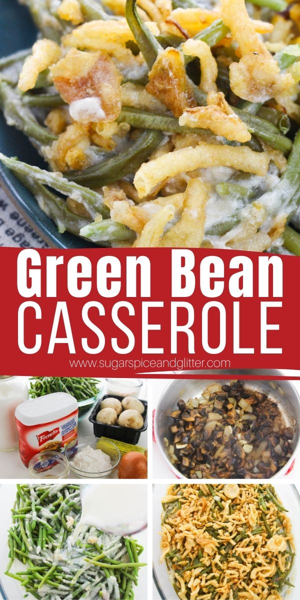 How to make green bean casserole from scratch without canned mushroom soup. This easy recipe only adds a few minutes of extra work but results in amazing flavor and a side dish you can be proud to serve for Thanksgiving
