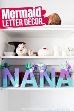 Mermaid Letter Name Decor