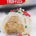Christmas Sugar Cookie Truffles