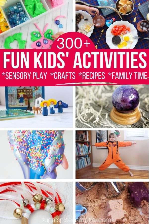 Over 300 Fun Kids' Activities to empower you to be a fun mom! From sensory play ideas, easy crafts for kids, kid-made recipes, family movie nights and more, we've got you covered. Even if you just have 15 minutes of quality time to spare
