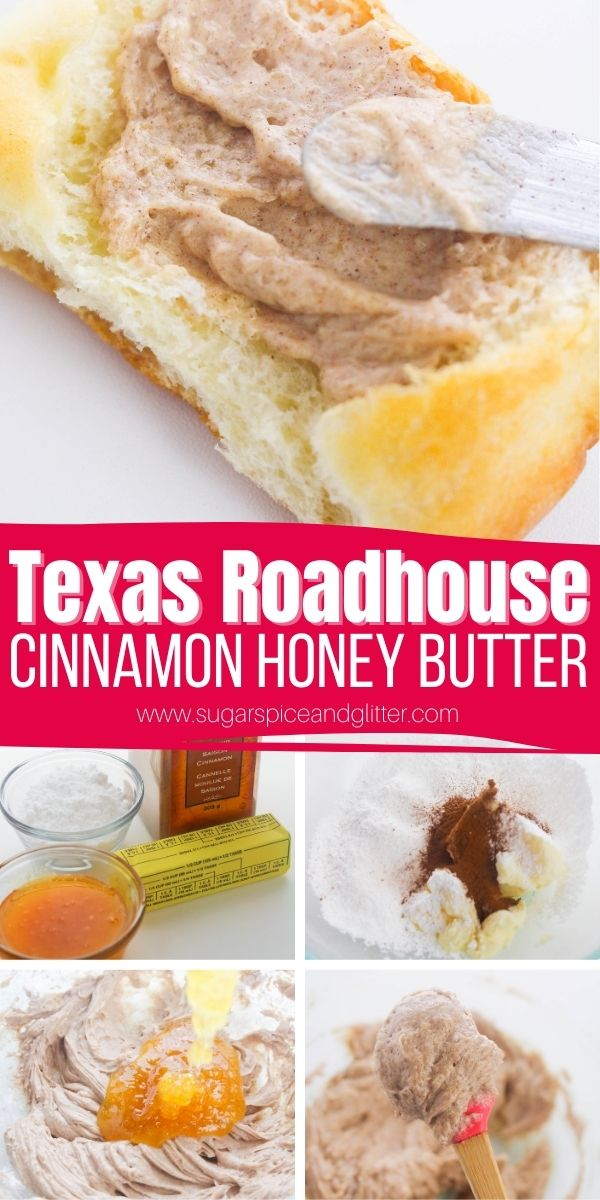 How to make Texas Roadhouse's Cinnamon Honey Butter - 4 ingredients and less than 5 minutes! Spread it on rolls, serve it at brunch or even use it to top roasted veggies.