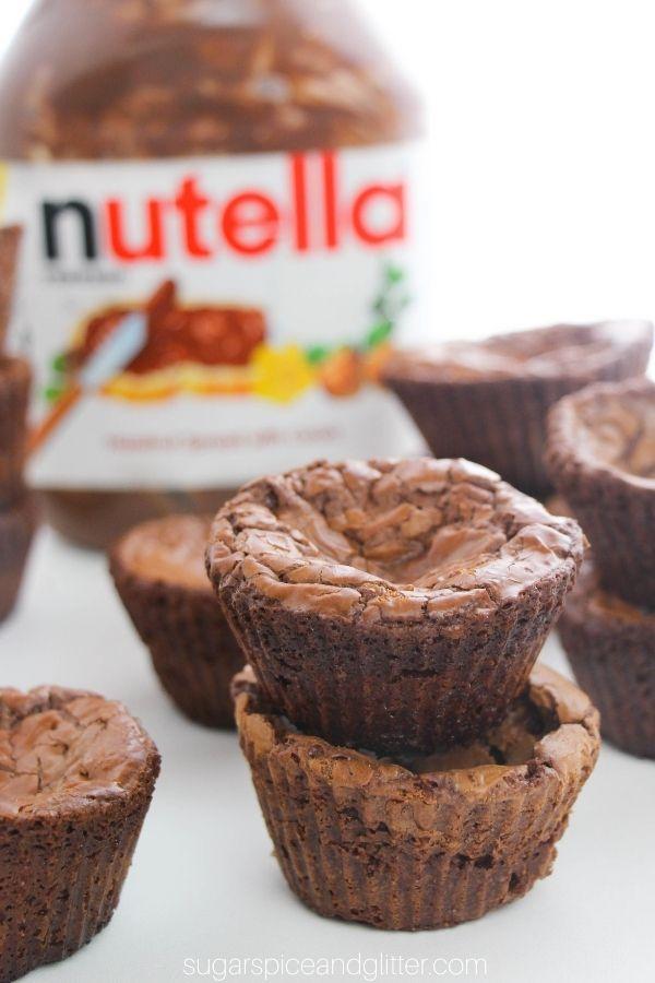 2-Ingredient Nutella Brownies