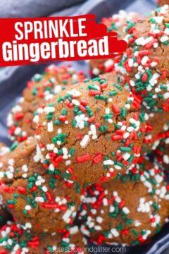 Sprinkle Gingerbread Cookies