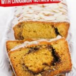 Eggnog Bread with Cinnamon Swirl