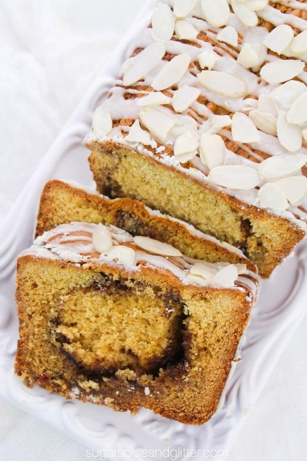 Eggnog Loaf with Cinnamon Swirl