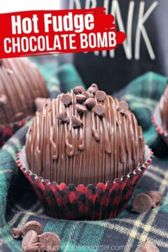Chocolate Fudge Hot Chocolate Bombs (with Video)