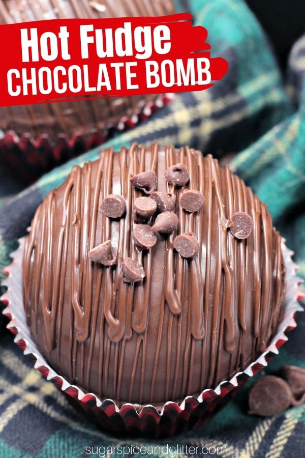 A rich and fudgey hot chocolate bomb that makes the most luxurious, rich and chocolatey hot cocoa. A fun dessert idea or homemade gift for true chocoholics. Add our Bailey's Fudge to make your hot chocolate boozy!