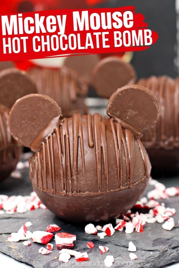 These fun Mickey Mouse Hot Chocolate bombs explode in a warm mug of milk to create a rich, chocolatey cup of hot cocoa that you can customize with sprinkles or different flavor profiles.