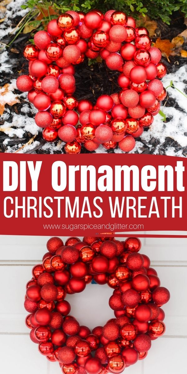 How to make an ornament wreath to add some serious flair and glamour to your holiday decor. Our easy step-by-step tutorial will guide you through making your own unique Christmas wreath which you can customize with any colors or fun embellishments