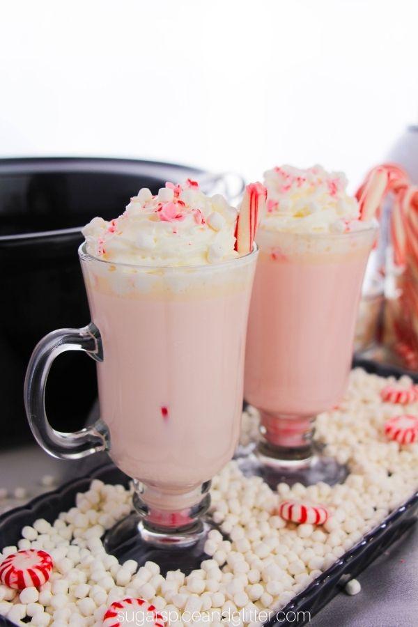 Crockpot Peppermint White Hot Chocolate