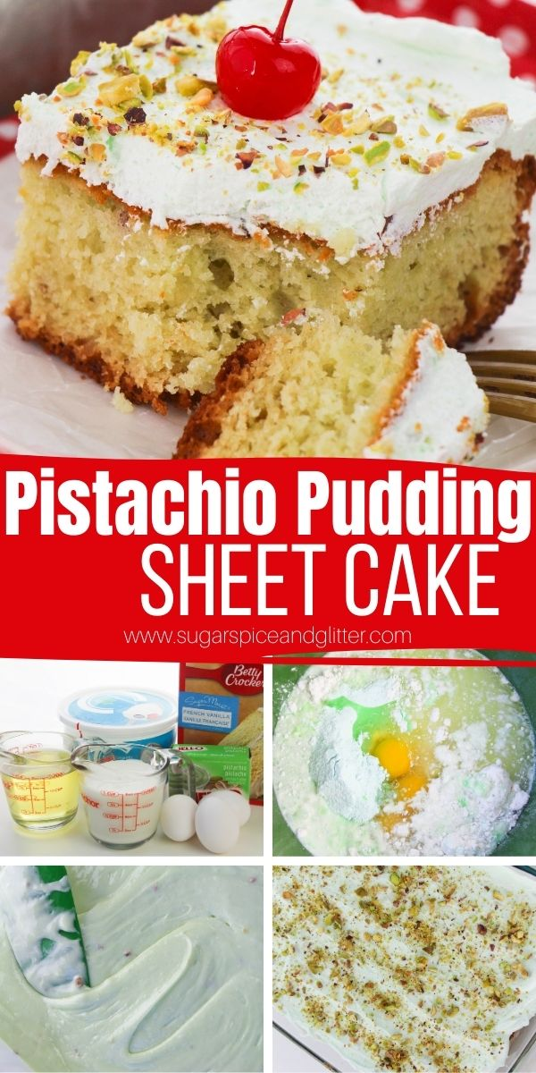 How to make a pistachio cake using pudding mix. This tender and flavorful pistachio pudding cake is topped with a light pistachio whipped topping and even more crushed pistachios for unbelievable flavor and texture. This is the ULTIMATE pistachio dessert