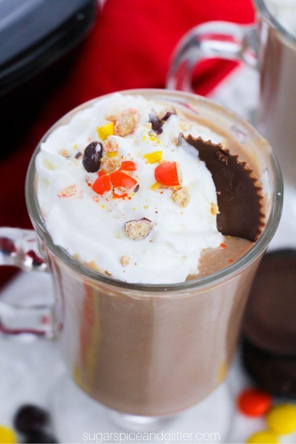 Crockpot Reese's Peanut Butter Hot Chocolate