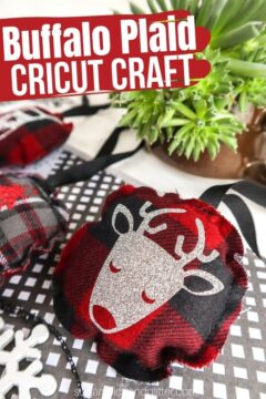 Buffalo Plaid Cricut Craft
