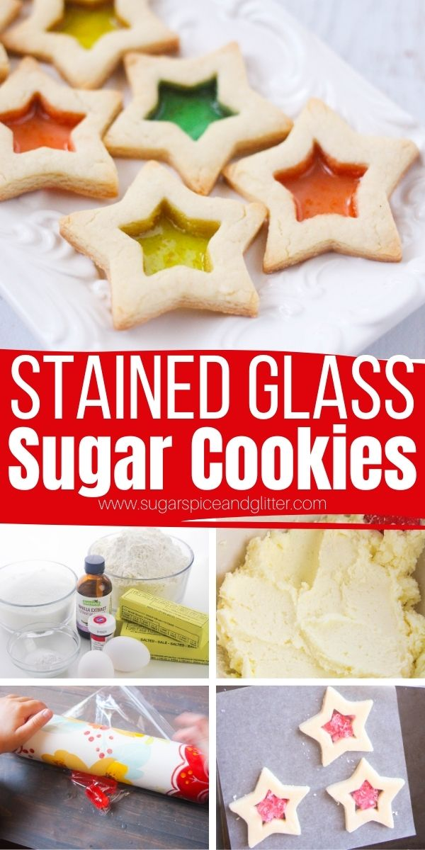 How to make stained glass window sugar cookies, melt-in-your-mouth sugar cookies with pretty, candy centers that look just like a stained glass window. These Christmas sugar cookies are incredibly easy to make!