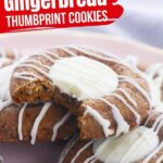 White Chocolate Thumbprint Gingerbread Cookies