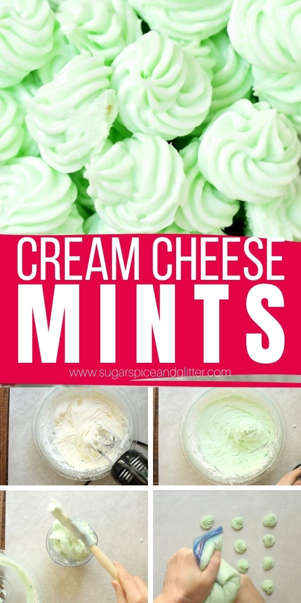 How to make cream cheese mints, AKA wedding mints, the perfect easy recipe for parties or homemade gift giving. These light, airy mints are so easy to make and you can customize the flavor and color to any occasion.