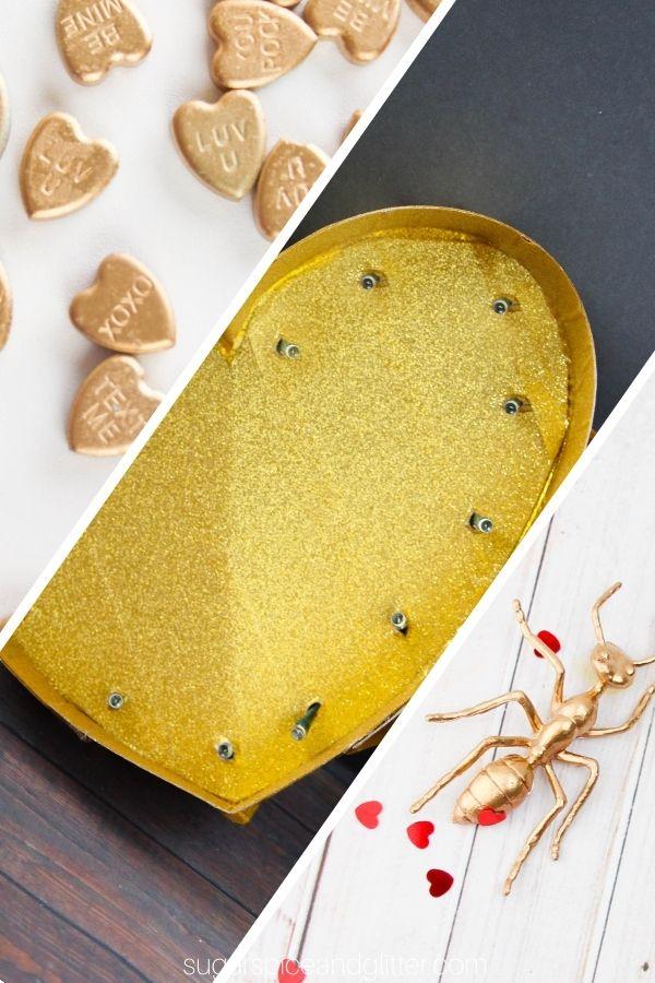 DIY Gold Valentine Decor