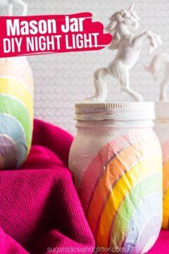 Unicorn Mason Jar Night Light
