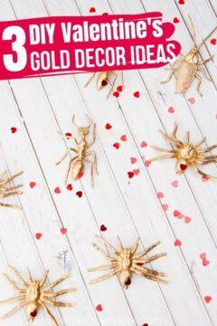 DIY Gold Valentine Decor Ideas