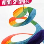 Rainbow Paper Plate Wind Spinner