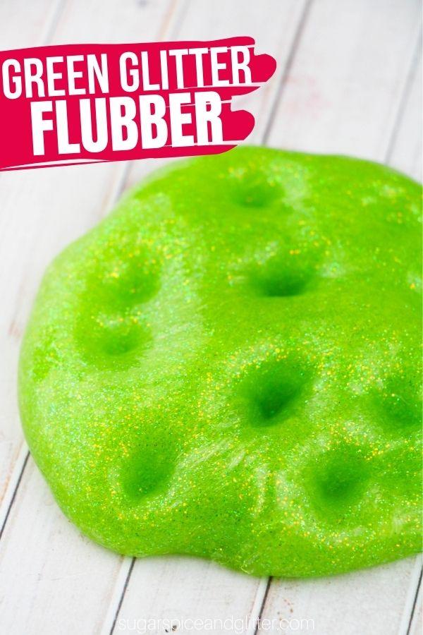 Green Glitter Flubber