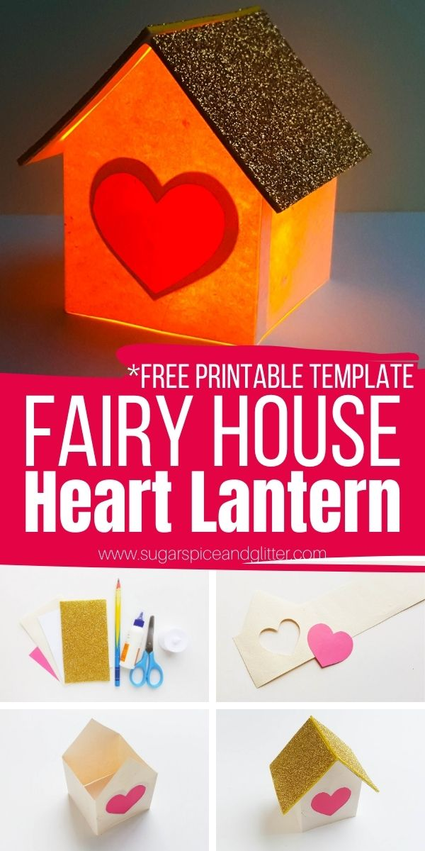 How to make a fairy house lantern that actually lights up! Our free printable templates make the crafting process so quick and easy, you can make a whole village of these little lanterns - and don't forget to customize yours with fun embellishments!