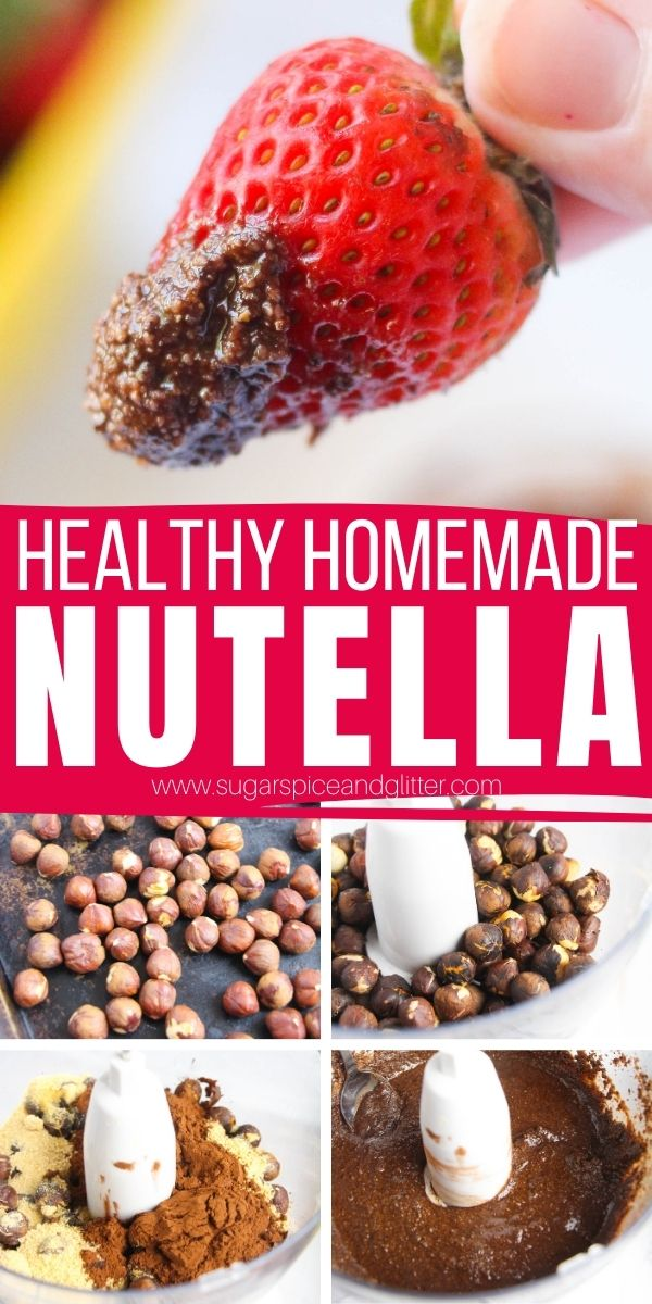 How to make homemade nutella without any refined sugar. This healthy nutella recipe is rich and robust with nutty, chocolate flavor and is the perfect healthy breakfast spread or dessert to help you stick with your healthy eating goals