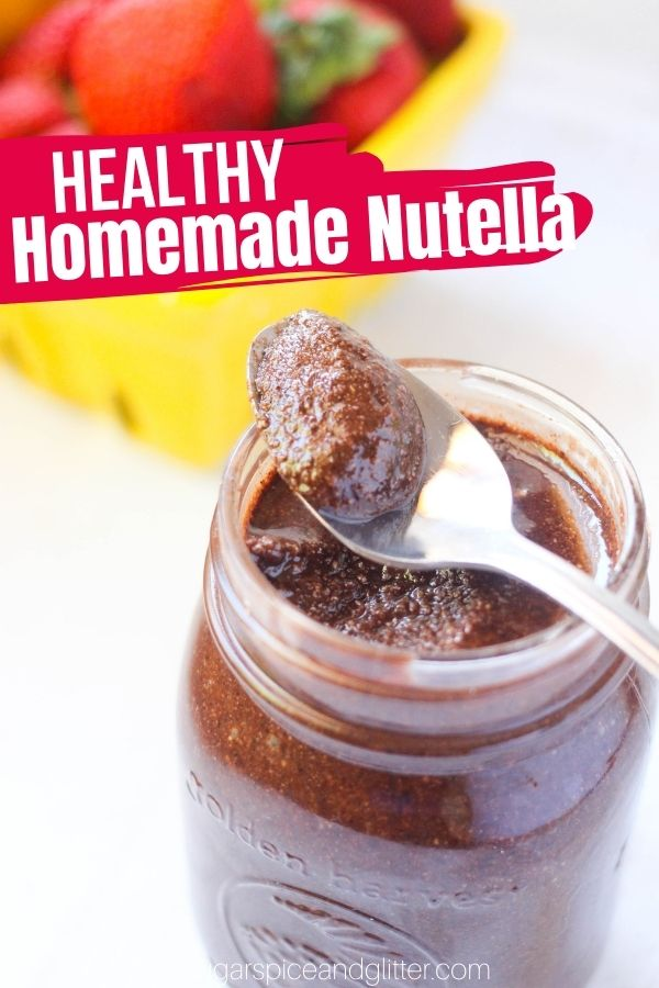 A delicious recipe for homemade nutella without refined sugar, this easy nutella recipe uses whole roasted hazelnuts to make a rich, flavorful healthy nutella recipe that you can make as chunky or smooth as you'd like!