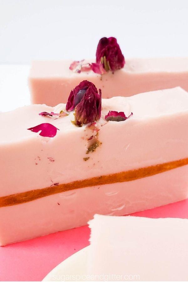 Sleeping Beauty Rose Soap