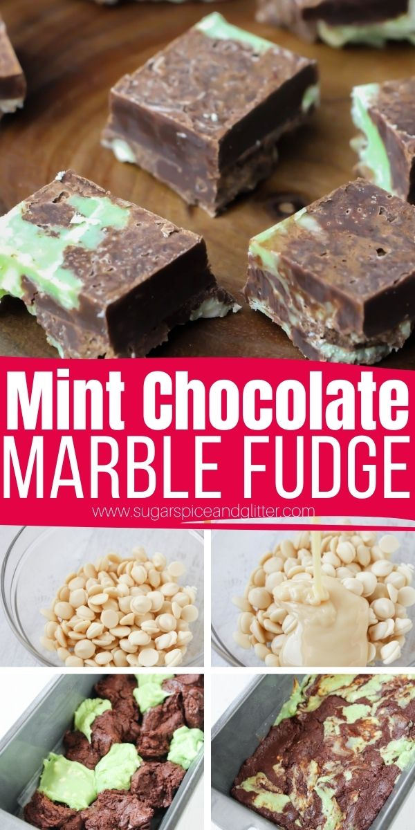 How to make the best no cook mint chocolate fudge in less than 10 minutes and with just 4 ingredients! This easy no cook fudge recipe is the perfect easy mint chocolate dessert recipe