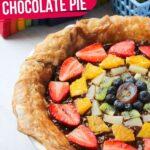 Rainbow Fruit Chocolate Pie